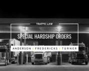 QLD Traffic Law - Special Hardship Orders