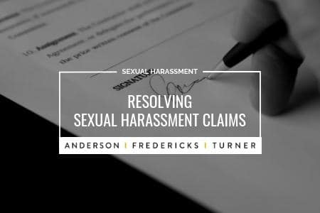 Resolving Sexual Harassment Claims