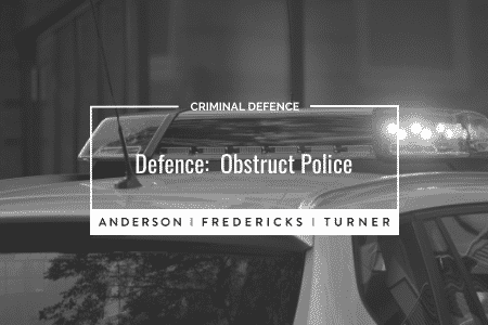 Criminal Defence: Obstruct Police